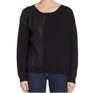 French Connection Black Faux Leather Long Sleeve
